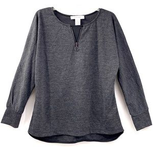 WORKSHOP Nordstrom Gray Long Sleeve Top medium